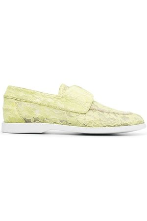 LE SILLA Claire lace embroidered loafers