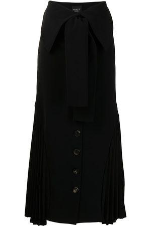 A.W.A.K.E. MODE Button-down midi skirt