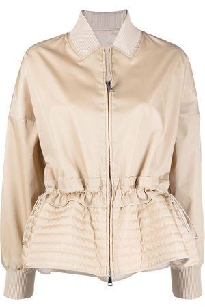 Moncler Baldah peplum jacket - Neutrals