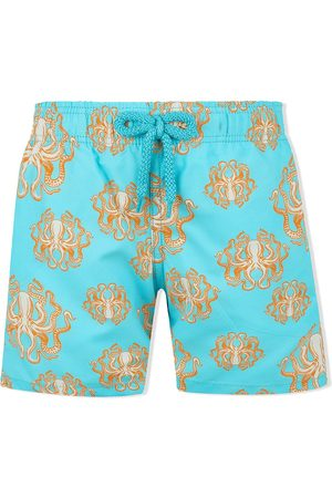 Vilebrequin Boys Swim Shorts - Octopus print swim shorts
