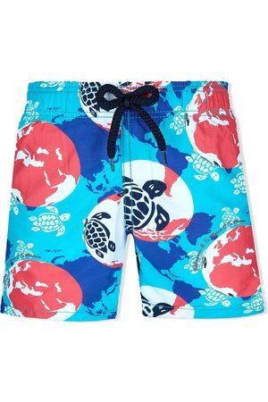 Vilebrequin Boys Swim Shorts - Graphic print swim shorts