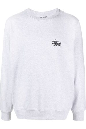 STUSSY Men Sweatshirts - Stock logo crew sweatshirt