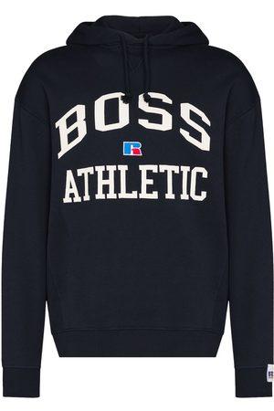 HUGO BOSS Logo-print cotton hoodie