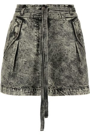 ULLA JOHNSON Alec tie-waist denim shorts