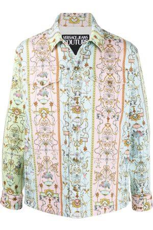 VERSACE Tuileries print denim jacket
