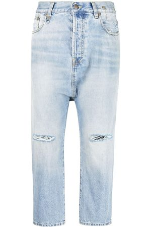 R13 High-rise drop-crotch jeans