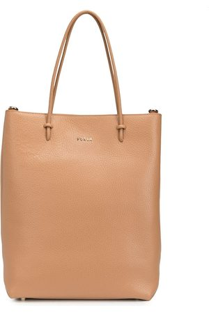Furla Essential leather shopper tote - Neutrals