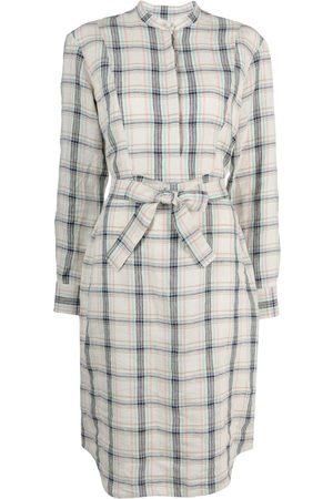 A.P.C. Women Casual Dresses - Raquel check shirt dress - Neutrals