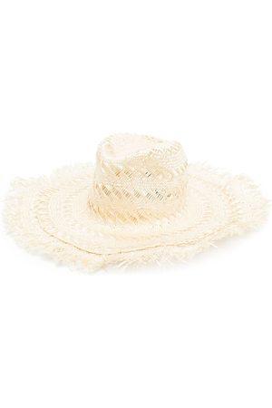 Borsalino Fringe-brim sun hat - Neutrals