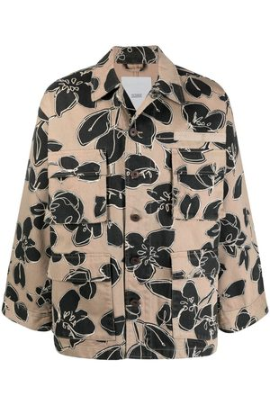 Closed Floral-print single-breasted jacket - Neutrals