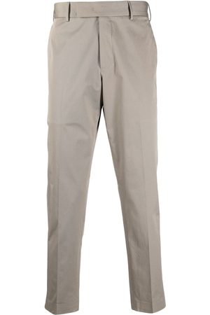 PT01 Stretch-cotton tailored trousers - Neutrals