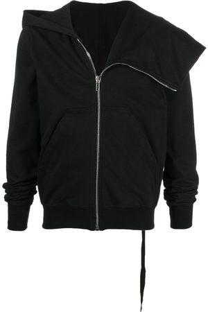 Rick Owens Asymmetric draped-collar hoodie