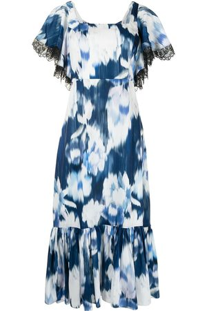 Sachin & Babi Women Printed Dresses - Floral-print lace-trim dress