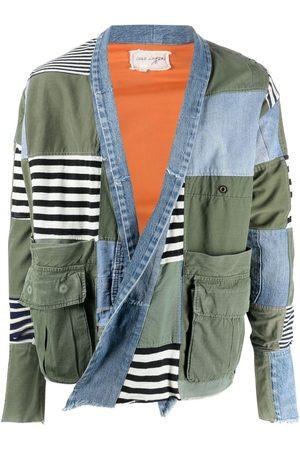 Greg Lauren Men Jackets - Open-front patchwork jacket