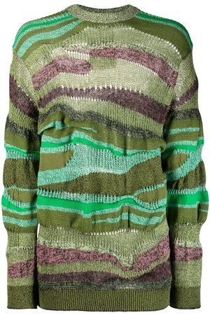 Kenzo Men Sweatshirts - Intarsia-knit jumper