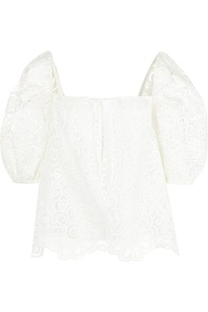 JONATHAN SIMKHAI Women Blouses - Embroidered-lace blouse