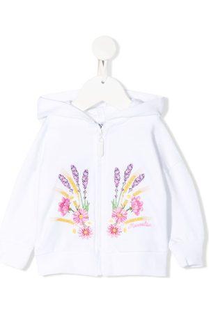 MONNALISA Floral-print zip-up hoodie