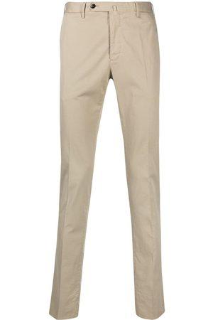 PT01 Off-centre button trousers - Neutrals