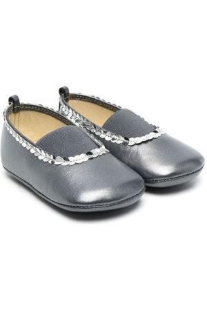 PèPè Sequin-embellished ballerina shoes - Grey