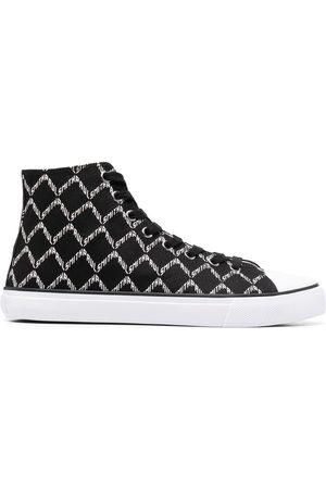 Paul Smith Monogram-print high-top sneakers