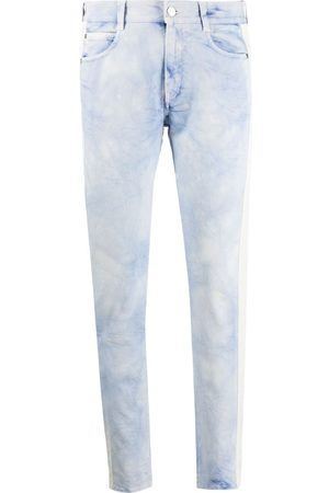 Stella McCartney Marble side-stripe slim-leg jeans