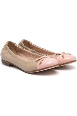 PèPè Bow-detail ballerina shoes - Neutrals