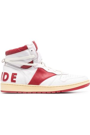 Rhude Men Sneakers - Two-tone high-top trainers