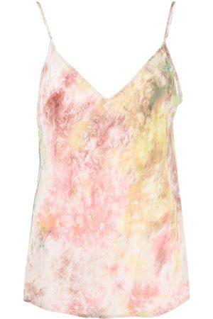 Mes Demoiselles Abstract-print V-neck top