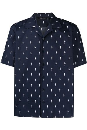 Neil Barrett Thunderbolt-print short-sleeve shirt