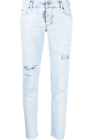 Dsquared2 Low-rise distressed skinny jeans