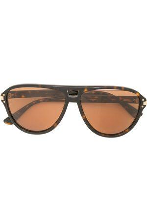 AMIRI Engraved-logo aviator sunglasses