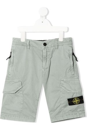 Stone Island Logo cargo shorts - Grey