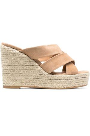 Castaner Open-toe wedge sandals - Neutrals