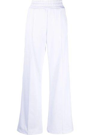 Fendi Women Wide Leg Pants - Logo-panel wide-leg trousers