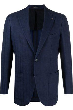 TAGLIATORE Men Blazers - Single-breasted striped blazer