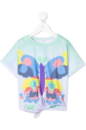 Stella McCartney Girls T-shirts - Butterfly-print tie-front T-shirt
