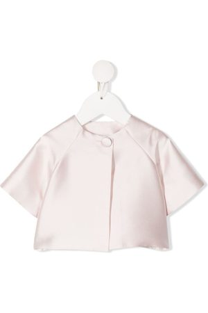 LA STUPENDERIA Short-sleeve silk jacket