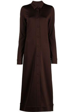 Jil Sander Women Maxi Dresses - Buttoned maxi dress
