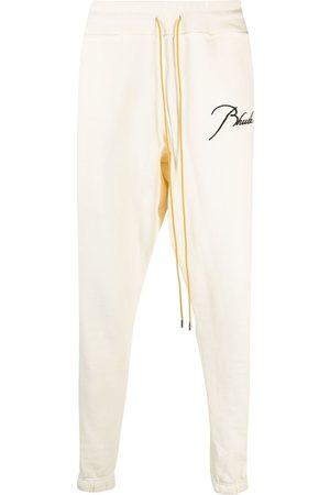 Rhude Men Sweatpants - Embroidered-logo track pants - Neutrals