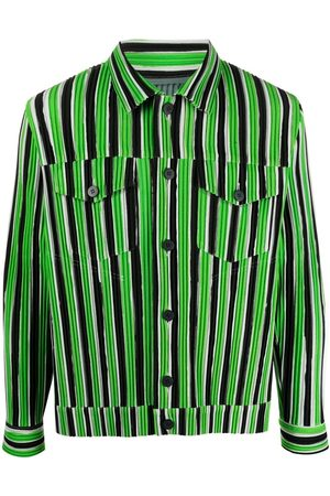 Issey Miyake Men Shirts - Textured striped shirt