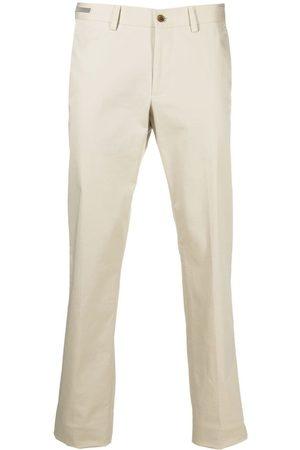 corneliani Pressed-crease cotton tailored trousers - Neutrals