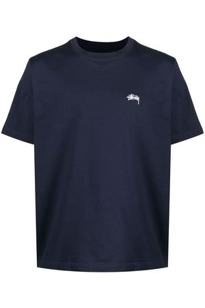 STUSSY Embroidered-logo short-sleeved T-shirt