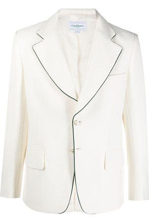 Casablanca Contrast trim single-breasted blazer - Neutrals