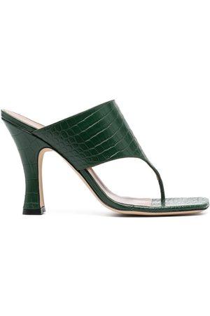 PARIS TEXAS Square-toe heeled sandals