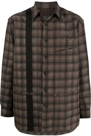 ZIGGY CHEN Oversized check shirt