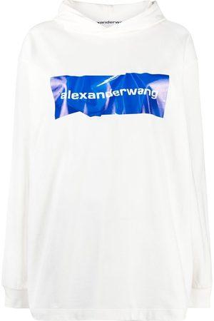 Alexander Wang Logo print pullover hoodie
