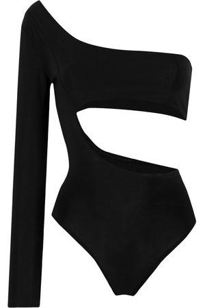 Alchemy One-shoulder cut-out bodysuit