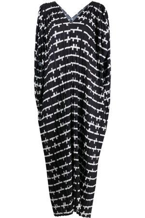 HENRIK VIBSKOV Abstract-print draped dress