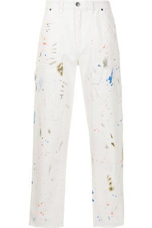 Alchemist Men Straight - Paint splatter-print straight-leg jeans
