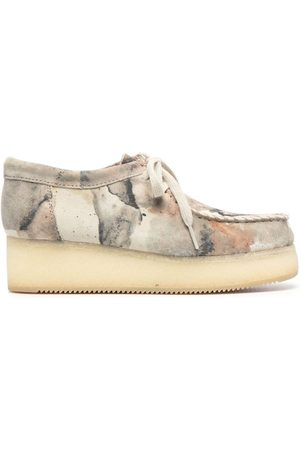 Clarks Camouflage-print lace-up shoes